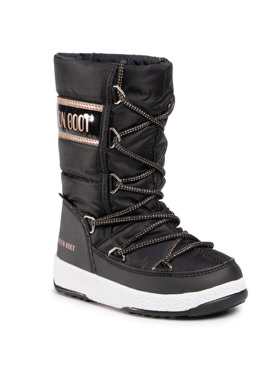 Moon Boot Sniego batai Jr G. Quilted Wp 34051400005 M Juoda