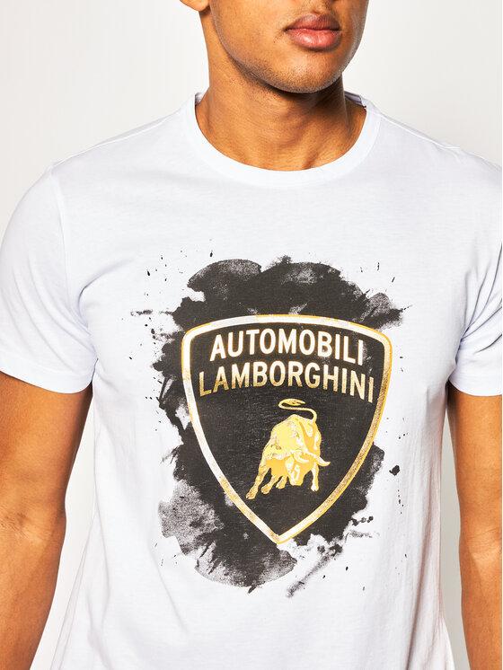 Lamborghini Lamborghini T-Shirt B3XVB7TF Biały Regular Fit