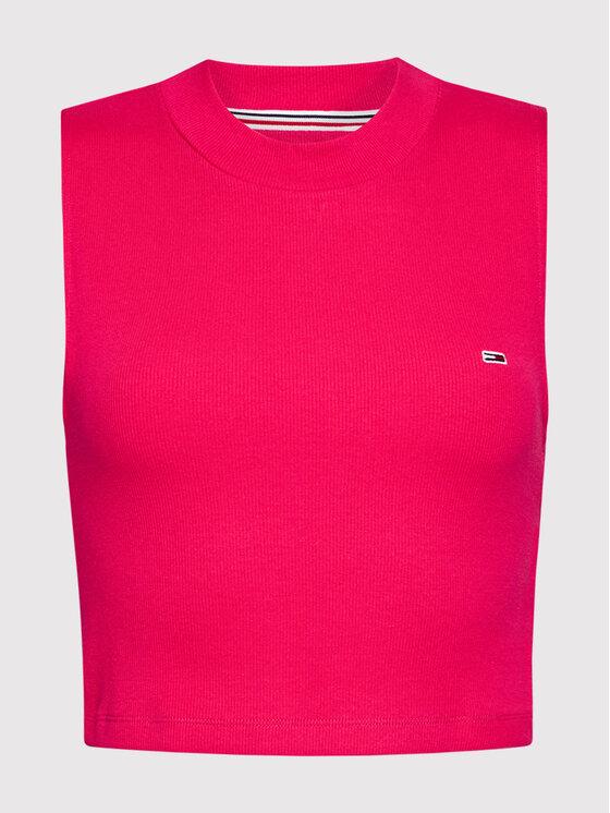 Tommy Jeans Tommy Jeans Bluzka Tjw Mockneck DW0DW10446 Różowy Cropped Fit