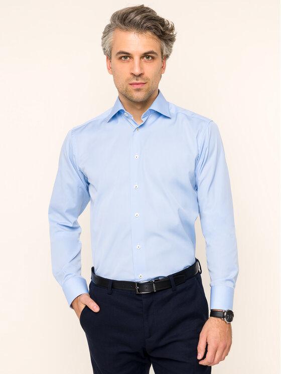 Eton Marškiniai 100000492 Mėlyna Slim Fit