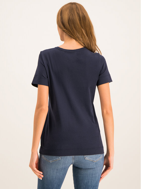 Tommy Hilfiger Tommy Hilfiger T-Shirt Kelsey WW0WW25893 Granatowy Regular Fit