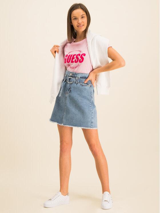 Guess Guess T-Shirt Roxy W01I0J JA900 Różowy Regular Fit