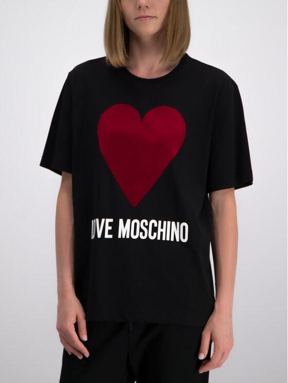LOVE MOSCHINO LOVE MOSCHINO Póló W4F8721M 3517 Fekete Oversize
