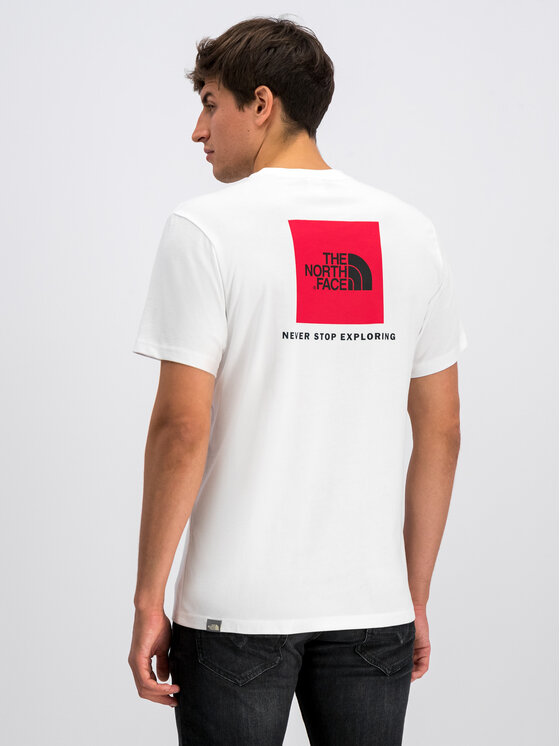 The North Face The North Face T-Shirt Redbox NF0A2TX2FN4 Biały Regular Fit