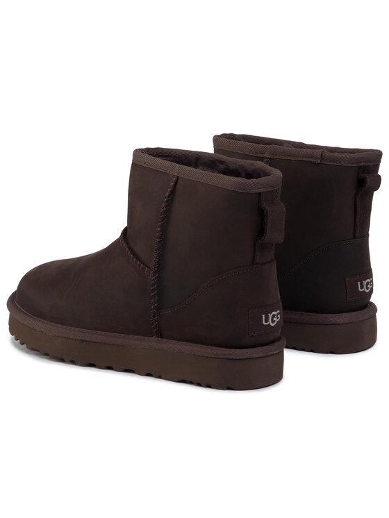 Ugg Ugg Pantofi W Classic Mini Leather 1016558 Maro