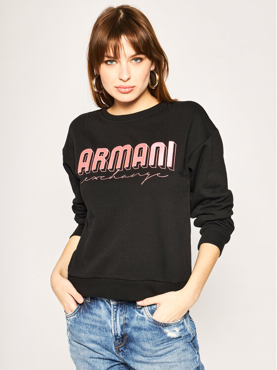 Armani Exchange Armani Exchange Pulóver 3HYM01 YJE5Z 1200 Fekete Regular Fit