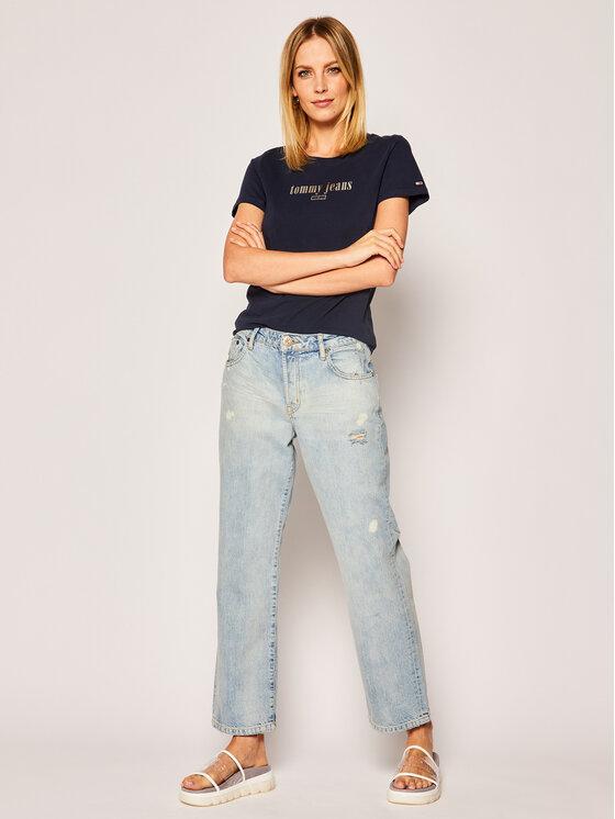 Tommy Jeans Tommy Jeans T-Shirt DW0DW06712 Σκούρο μπλε Regular Fit