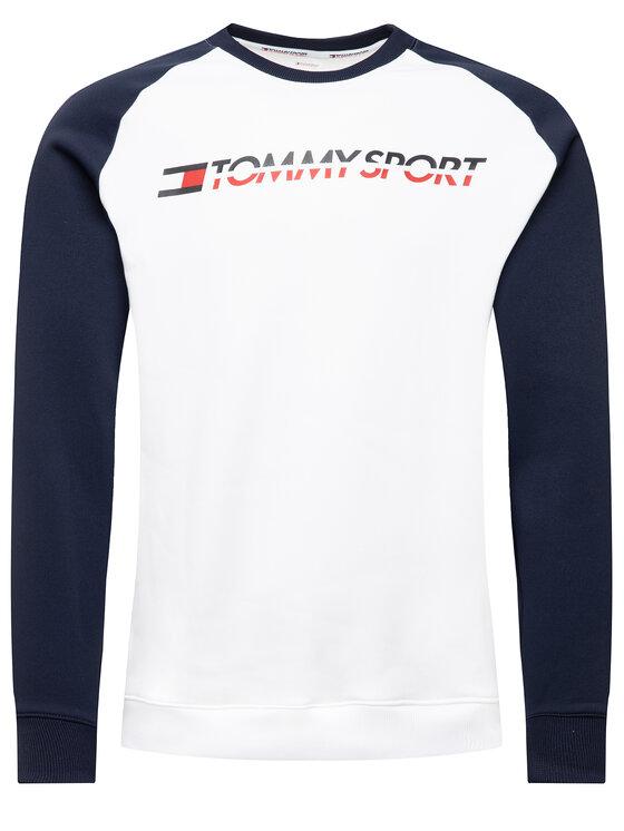 Tommy Sport Tommy Sport Džemperis Tape S20S200276 Balta Regular Fit
