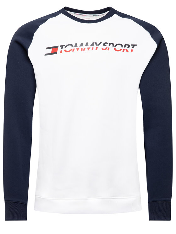 Tommy Sport Tommy Sport Суитшърт Tape S20S200276 Бял Regular Fit