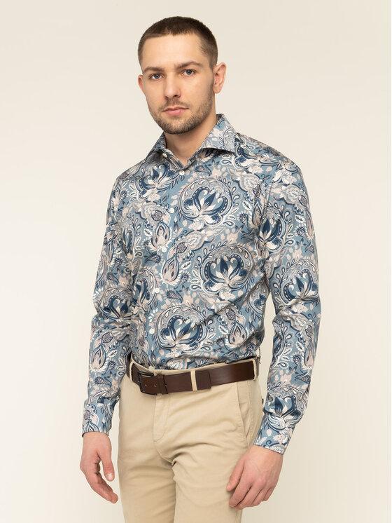 Eton Marškiniai 100000453 Žalia Slim Fit