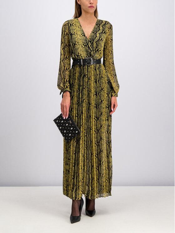 Guess Guess Sukienka wieczorowa Maya W94K1G WBUD0 Żółty Regular Fit