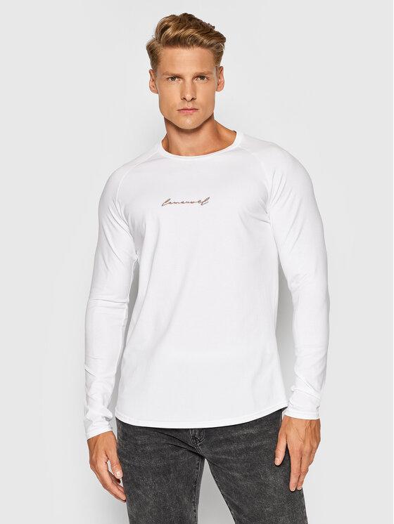 LaManuel Marškinėliai ilgomis rankovėmis Loyalty Balta Regular Fit