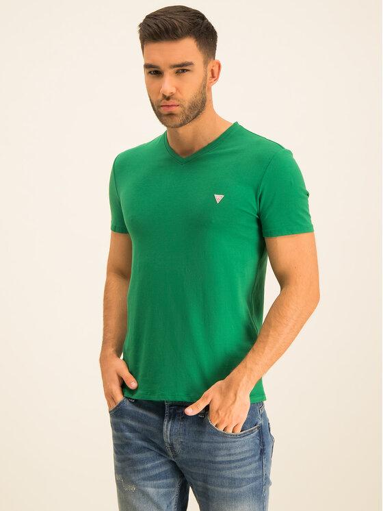 Guess Guess T-Shirt M01I32 J1300 Zelená Regular Fit