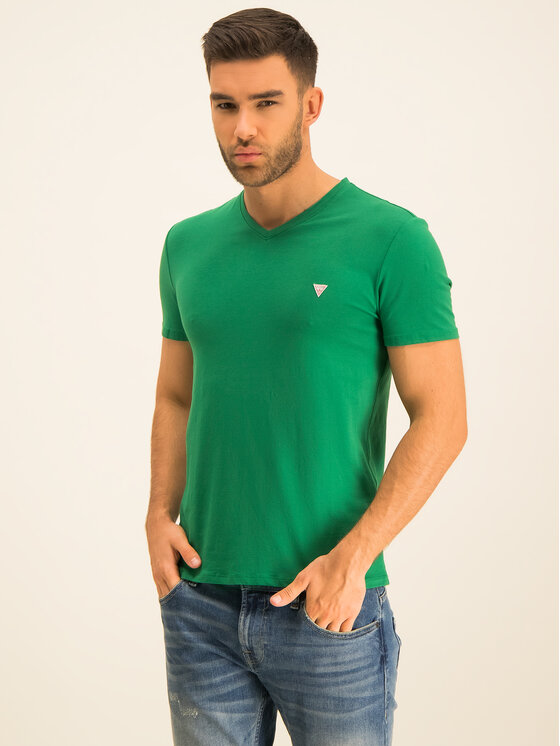 Guess Guess T-Shirt M01I32 J1300 Zielony Regular Fit