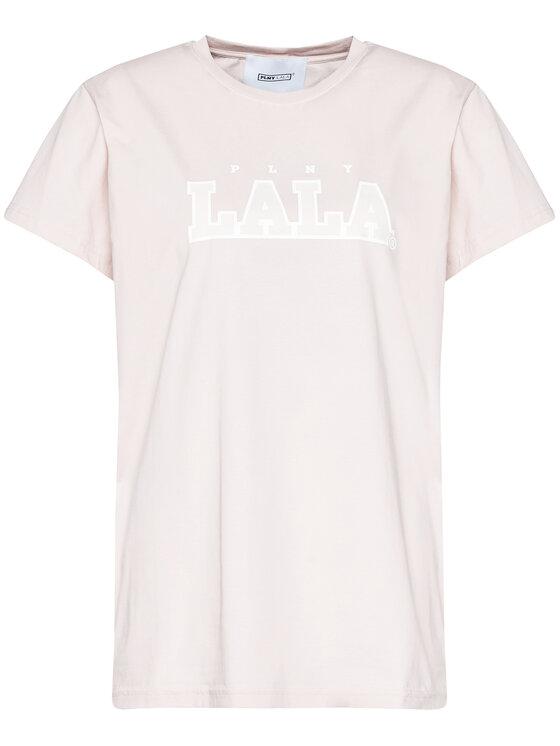 PLNY LALA PLNY LALA T-Shirt Classic PL-KO-CL-00191 Beżowy Regular Fit