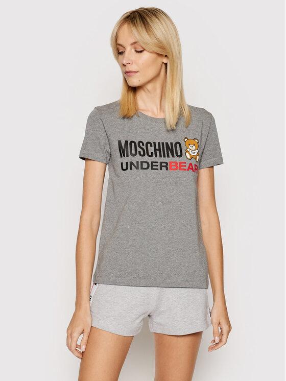 MOSCHINO Underwear & Swim MOSCHINO Underwear & Swim T-Shirt A1904 9003 Šedá Regular Fit
