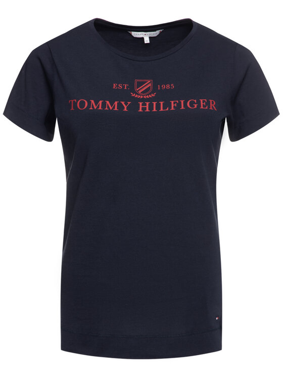 Tommy Hilfiger Tommy Hilfiger T-shirt Kelsey WW0WW25893 Blu scuro Regular Fit