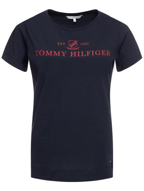 Tommy Hilfiger Tommy Hilfiger T-Shirt Kelsey WW0WW25893 Tmavomodrá Regular Fit
