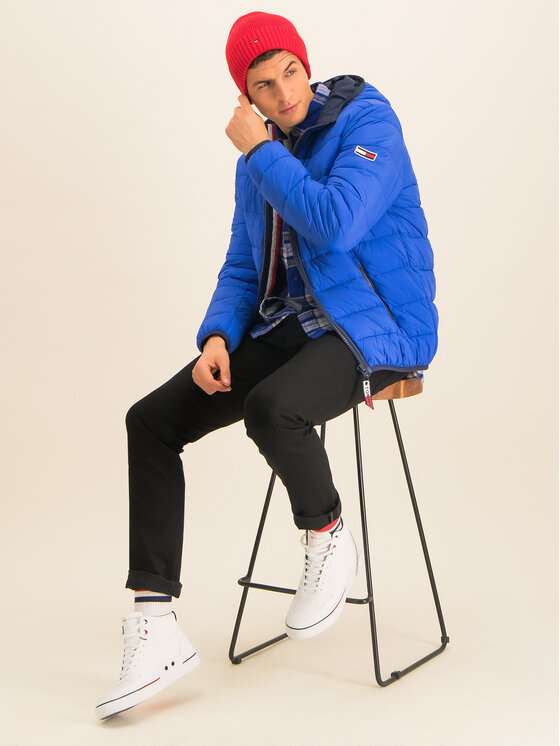 Tommy Jeans Tommy Jeans Geacă din puf Tjm Essential DM0DM07365 Albastru Regular Fit