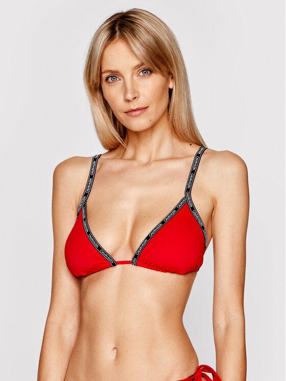 Calvin Klein Swimwear Calvin Klein Swimwear Góra od bikini Logo Tape KW0KW01272 Czerwony