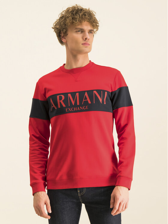 Armani Exchange Armani Exchange Džemperis 3HZMAE ZJ3FZ 5483 Raudona Regular Fit