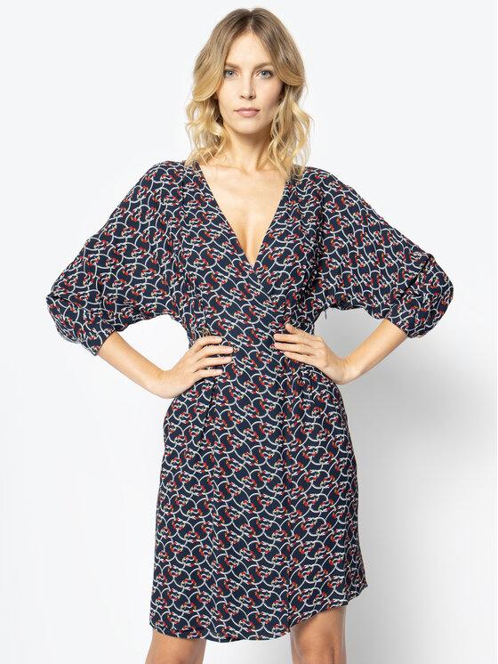 Manila Grace Manila Grace Kleid für den Alltag A084VS Dunkelblau Skinny Fit