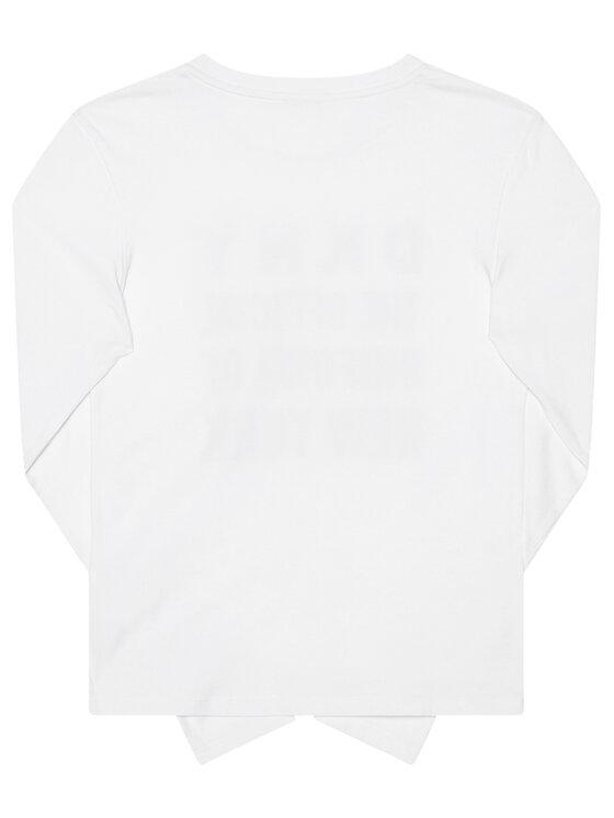 DKNY DKNY Bluzka D35Q81 D Biały Regular Fit