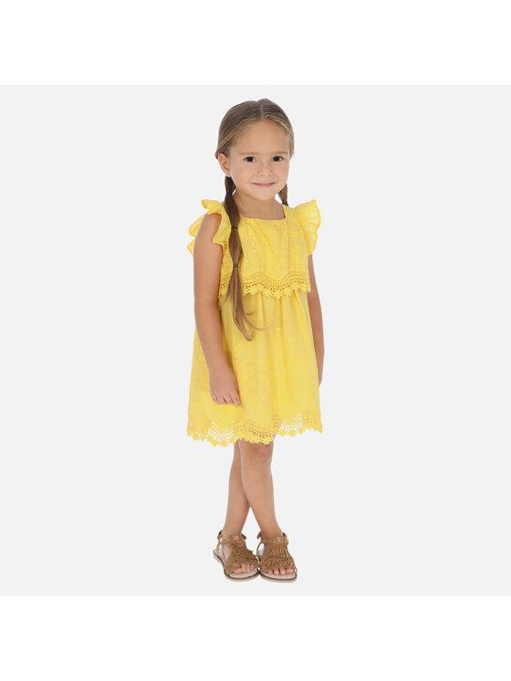Mayoral Mayoral Kasdieninė suknelė 3952 Geltona Regular Fit
