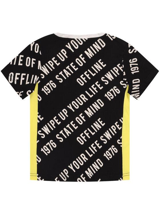 Primigi Primigi T-Shirt State Of Mind 45223021 Černá Regular Fit