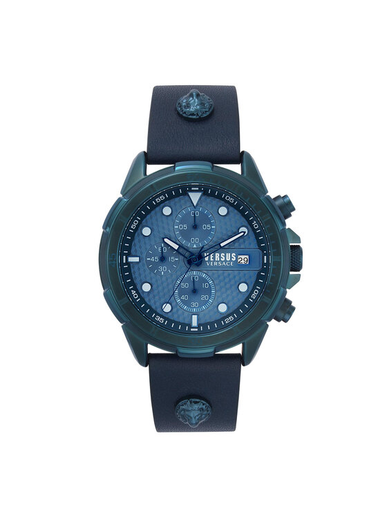 Versus Versace Laikrodis Arrondissement Chronograph VSPLP0319 Tamsiai mėlyna