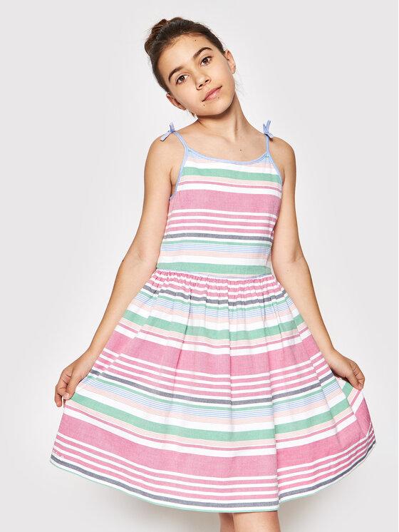 Polo Ralph Lauren Sukienka codzienna Oxford 313832993001 Kolorowy Regular Fit