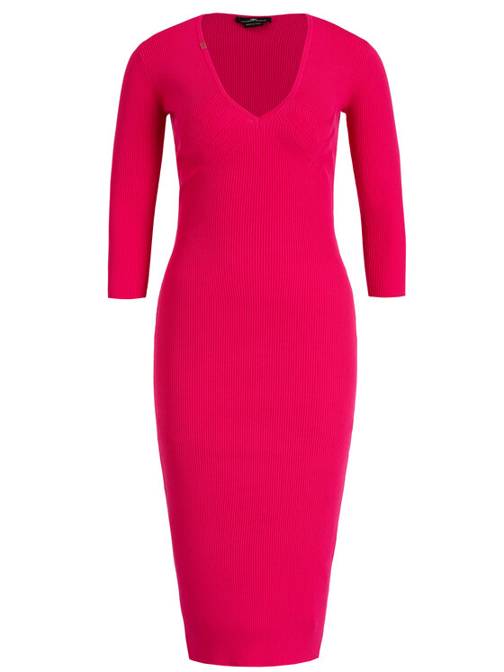 Elisabetta Franchi Elisabetta Franchi Úpletové šaty AM-53B-96E2-V229 Růžová Slim Fit