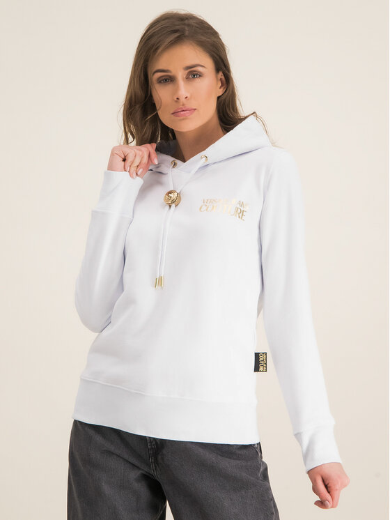 Versace Jeans Couture Versace Jeans Couture Суитшърт B6HVA778 Бял Regular Fit