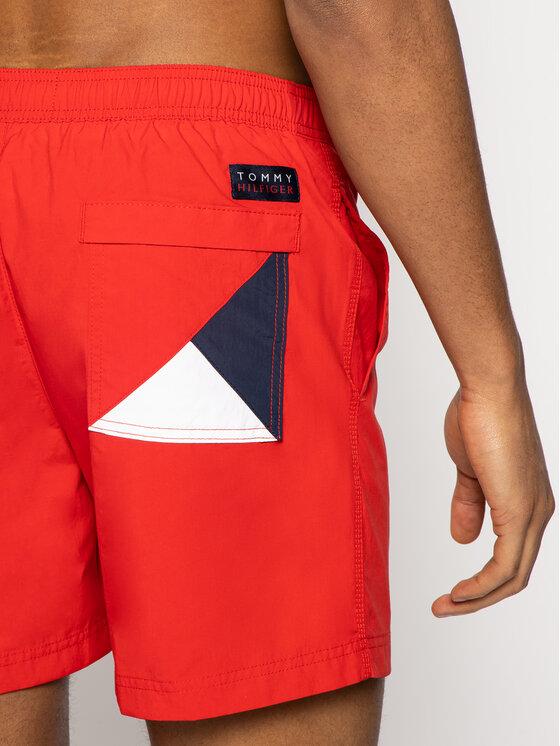 Tommy Hilfiger Tommy Hilfiger Σορτς κολύμβησης Sf Medium Drawstring UM0UM01080 Κόκκινο Slim Fit