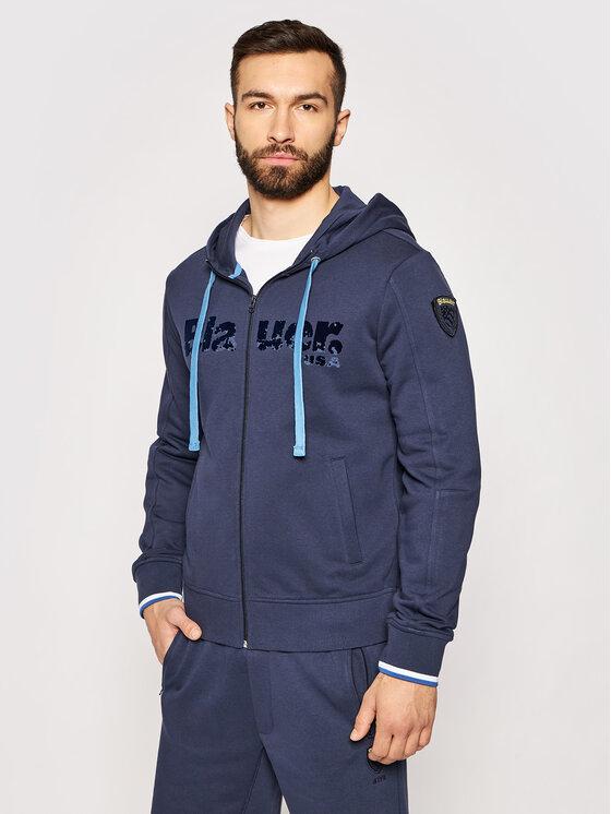 Blauer Džemperis 21SBLUF02117 005662 Tamsiai mėlyna Regular Fit