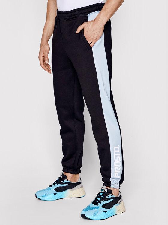 PROSTO. PROSTO. Spodnie dresowe KLASYK Sido 1021 Czarny Regular Fit