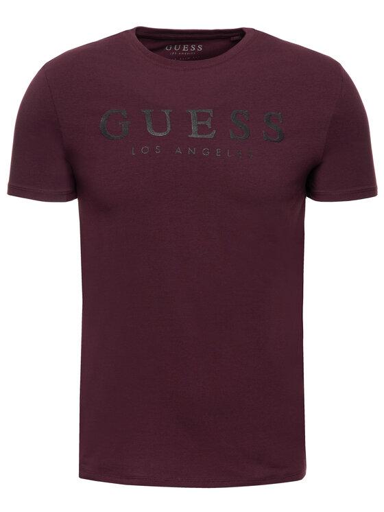 Guess Guess T-Shirt Original M94I39 J1300 Dunkelrot Slim Fit