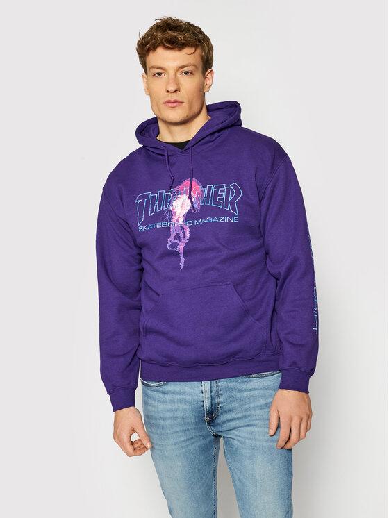 Thrasher Džemperis Atlantic Drift Violetinė Regular Fit