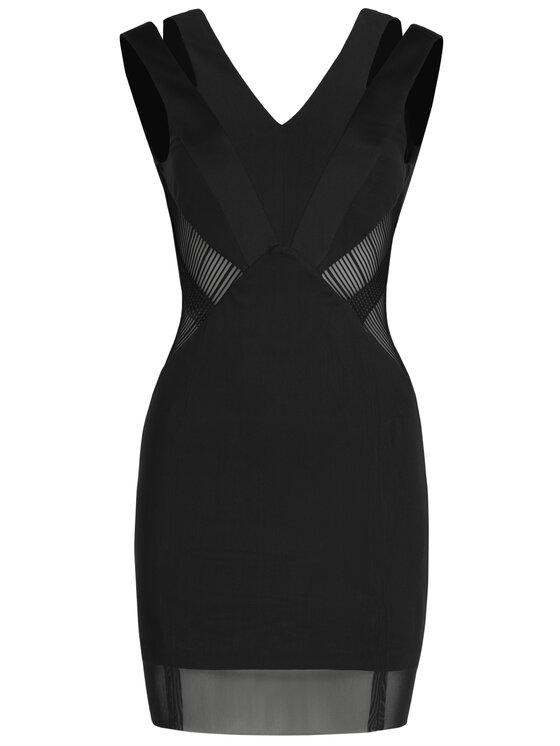 Silvian Heach Silvian Heach Sukienka koktajlowa Dress Kebrit CVP19253VE Czarny Slim Fit