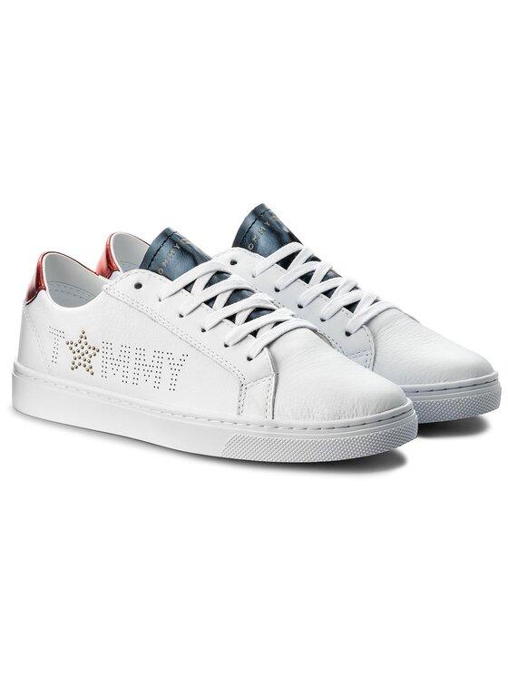 Tommy Hilfiger Tommy Hilfiger Sneakersy Tommy Star Metallic Sneaker FW0FW02349 Biały