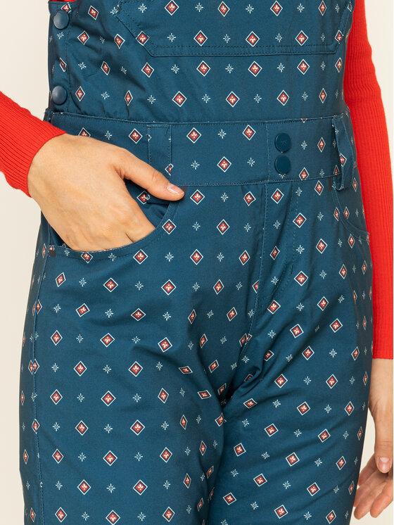 Billabong Billabong Lyžiarske nohavice Riva Printed Bib Q6PF12 BIF9 Tmavomodrá Tailored Fit