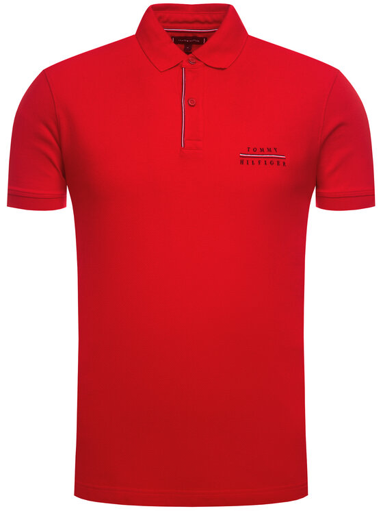 TOMMY HILFIGER TOMMY HILFIGER Polo Logo Embroidery MW0MW12246 Rouge Regular Fit
