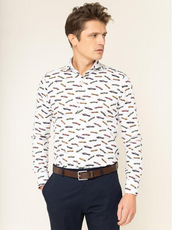 Emanuel Berg Marškiniai Harvard PEB46192 Balta Slim Fit