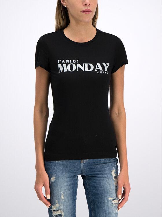 Guess Guess T-shirt W93I85 K7DM0 Nero Slim Fit