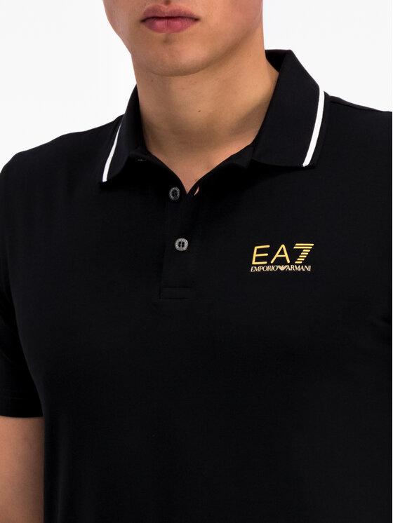 EA7 Emporio Armani EA7 Emporio Armani Polo 3GPF51 PJM5Z 0208 Czarny Regular Fit