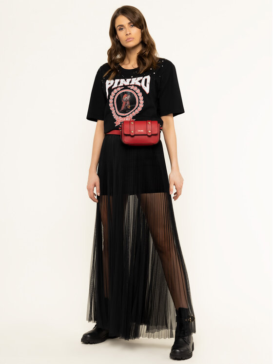 Pinko Pinko Marškinėliai LUCIA HEFFERNAN Cobalt PE 20 PHEFF 1N12L2 Y68F Juoda Regular Fit