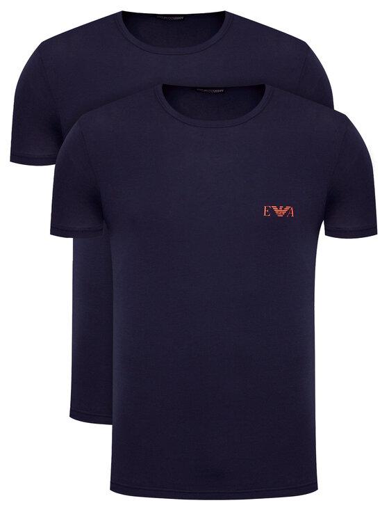 Emporio Armani Underwear 2 marškinėlių komplektas 111670 1P715 27435 Tamsiai mėlyna Regular Fit