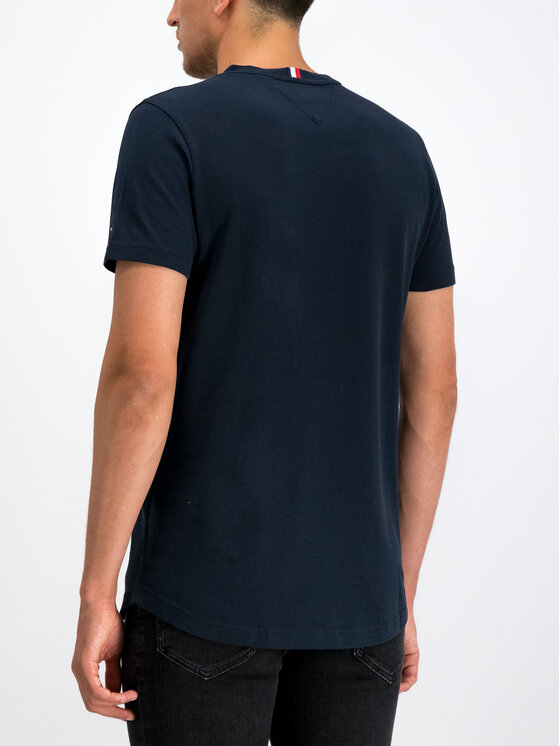 Tommy Hilfiger Tommy Hilfiger T-Shirt Crests MW0MW11806 Granatowy Regular Fit