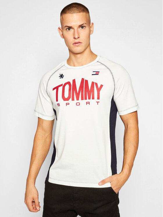 Tommy Sport Marškinėliai Iconic Tee S20S200502 Smėlio Regular Fit