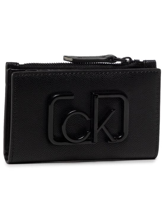 Calvin Klein Calvin Klein Duży Portfel Damski Ck Signature Ns Cardholder K60K606537 Czarny